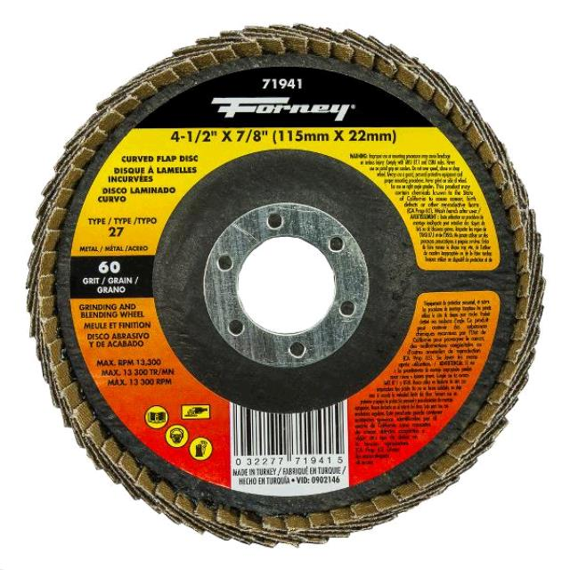 Where to find CURVED FLAP DISC 60 GRIT in Grove