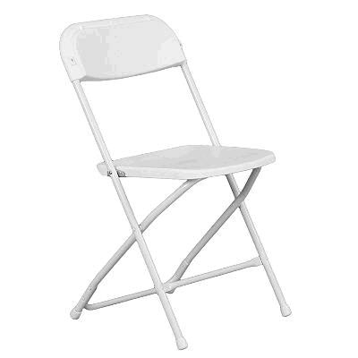 Where to find CHAIR, PLAST FOLD WHITE in Grove