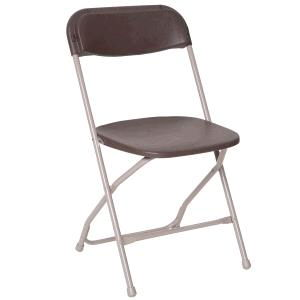Where to find CHAIR, PLAST FOLD BROWN in Grove