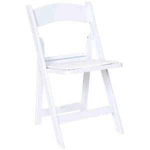 Where to find CHAIR, RESIN PADDED WHITE in Grove