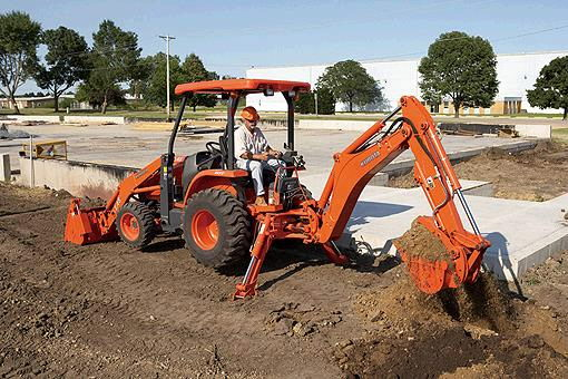 Where to find BACKHOE, KUBOTA L45TLB in Grove